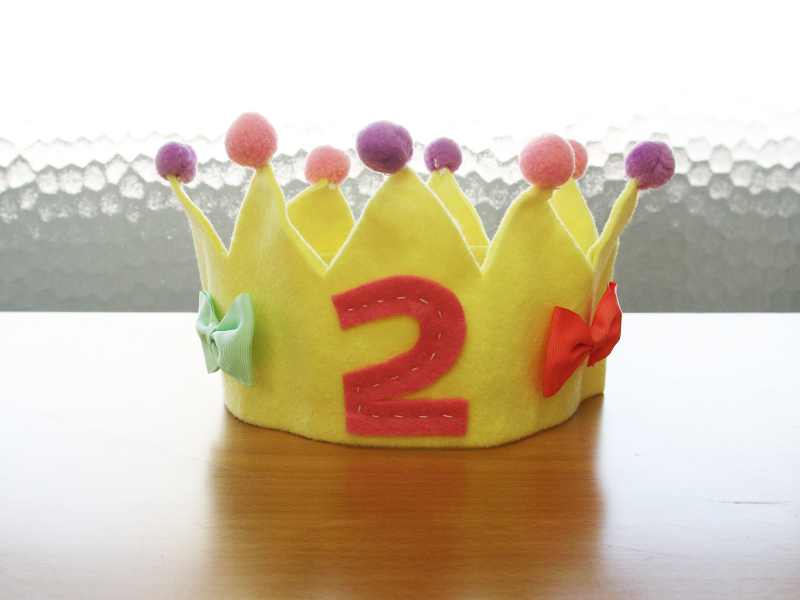 かわいい王冠が完成!