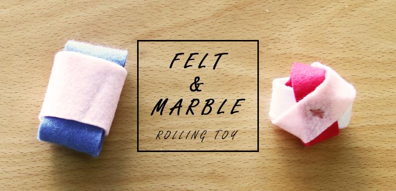 フェルトとビー玉で転がるおもちゃ