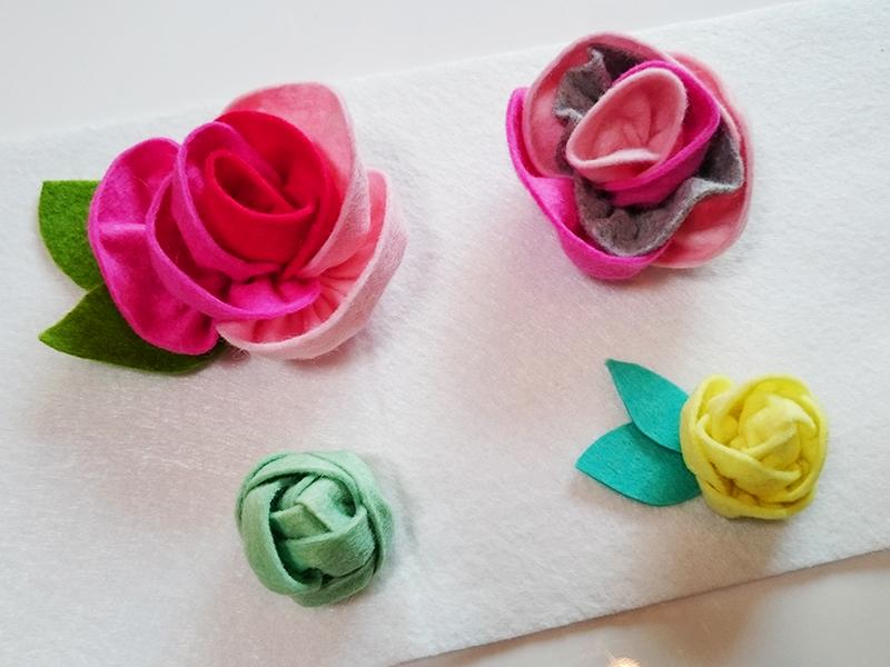フェルトで作るバラ2種類