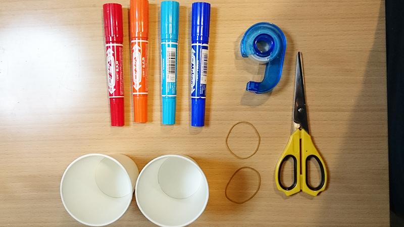 紙コップロケットの材料