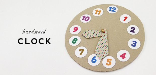 段ボールで作る時計のおもちゃ