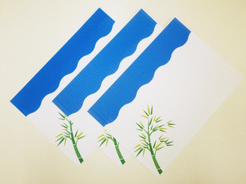 七夕のイラストを画用紙に印刷しました