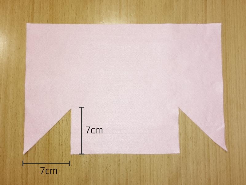フェルトのナースキャップ 作り方2
