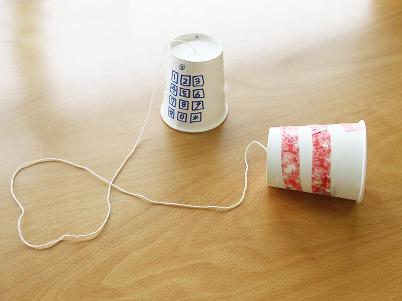 糸でんわを作りました