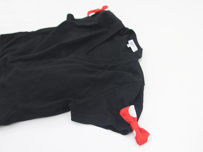 ミニーちゃん衣装の黒Tシャツ