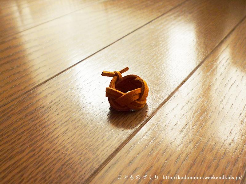 かもめ結びの手作りリング(おもちゃの指輪)