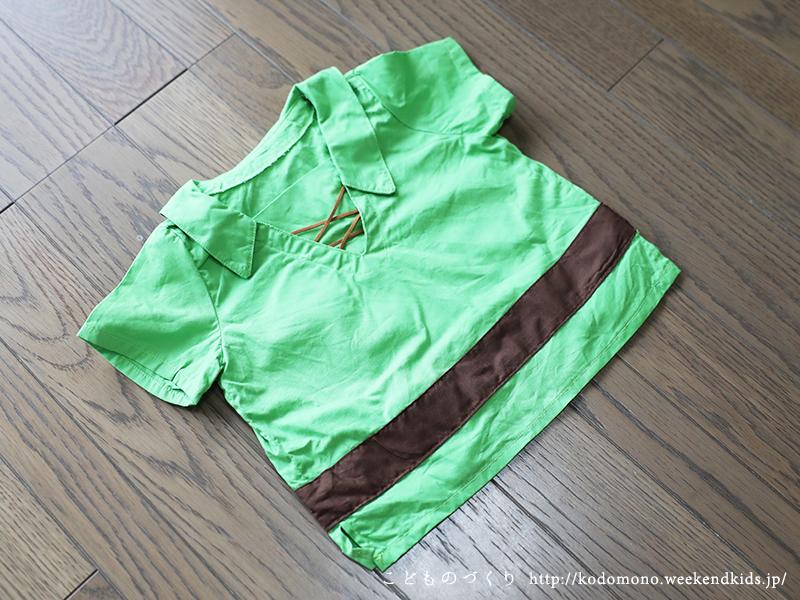 ピーターパンの手作り赤ちゃん衣装(80サイズ) シャツ